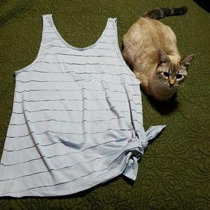 Athleta Stripe Side Tie tank size M